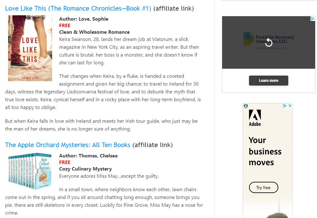 Kindle freebies at Weberbooks