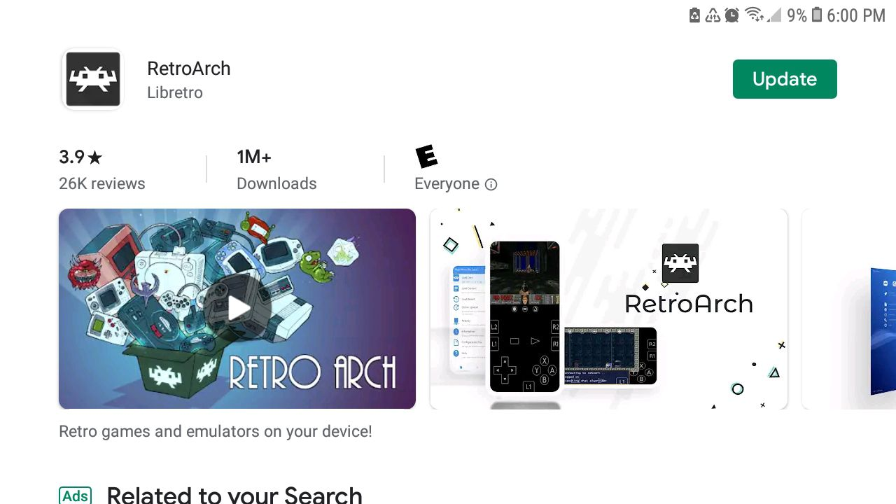 Download the RetroArch mobile app for the Apple Store or Google Play.