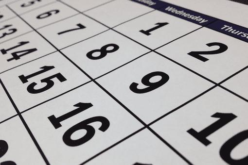Printed calendar sheet