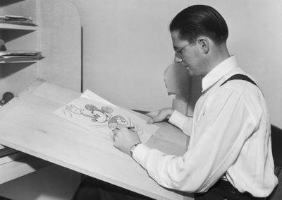Animator Drawing Mickey Mouse at Disney Studios