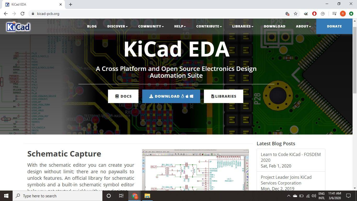Kicad EDA download page