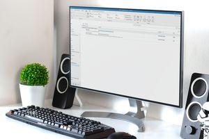 Outlook on a desktop monitor