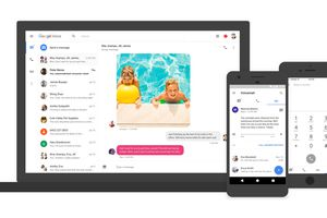 Google Voice on laptop and smartphones