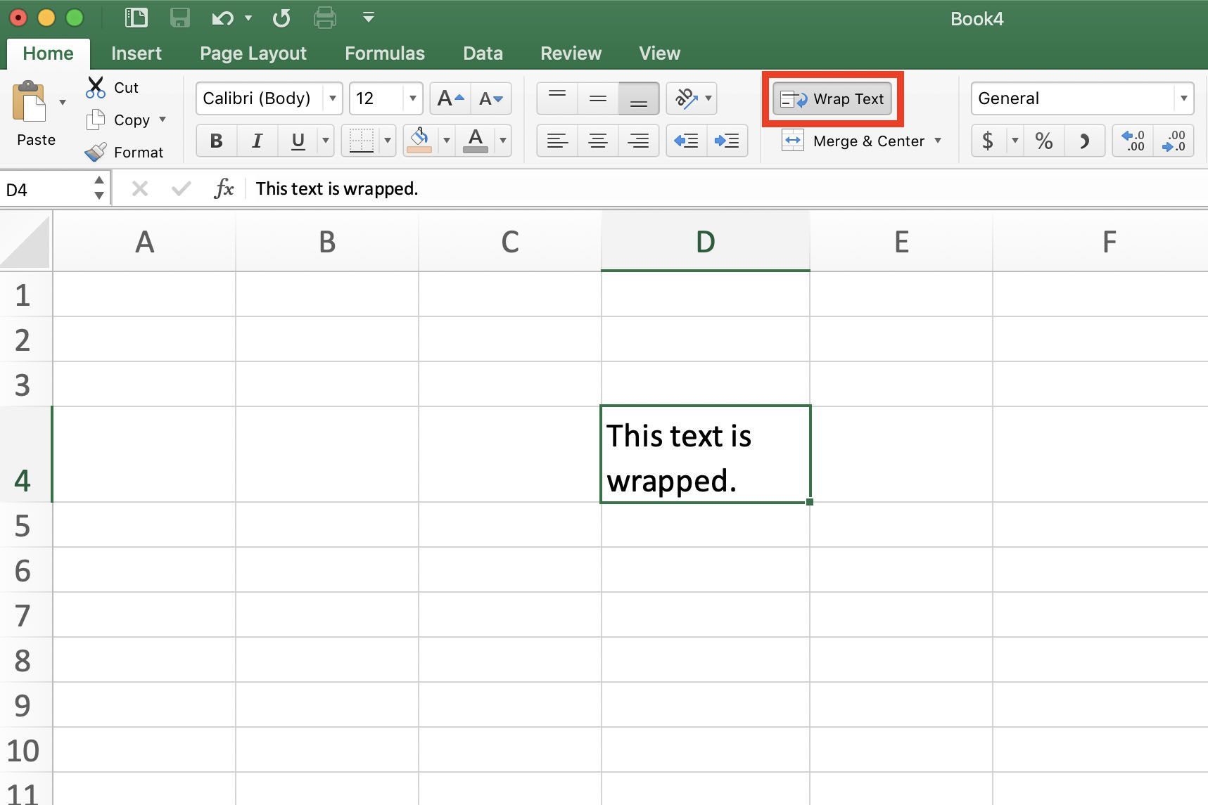 Wrap Text and Formulas on Multiple Lines in Excel