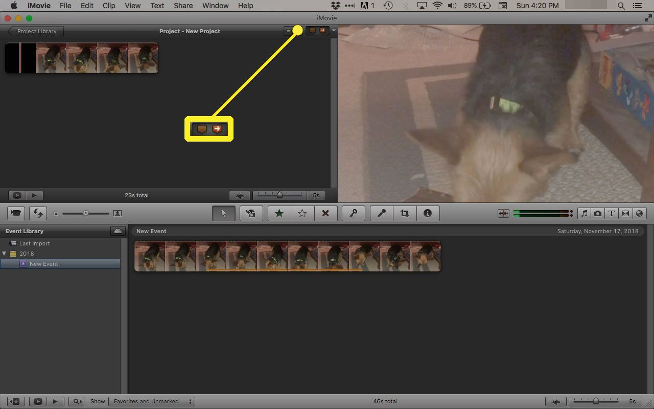 Add comment and chapter marker in iMovie '11