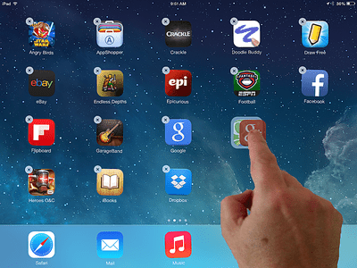 Creating a folder in iOS by dragging an icon