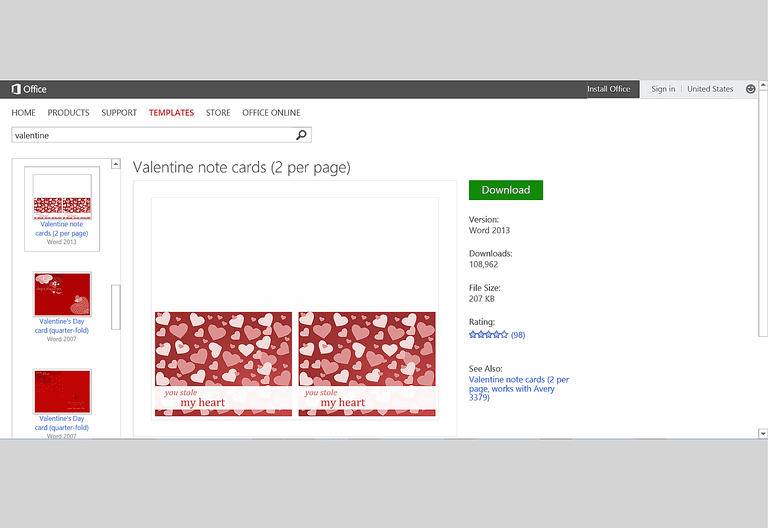 Free Valentines Day Templates For Ms Office