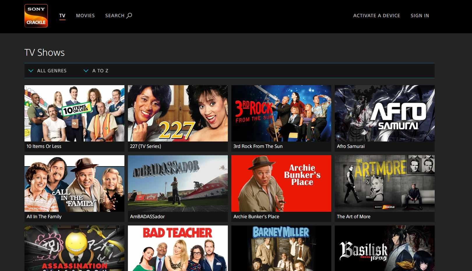 watch tv and series online for free