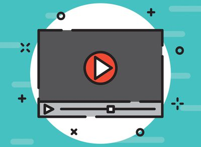 Play button and playhead on video illustration