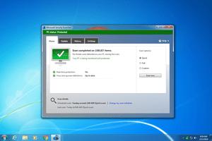 Microsoft Security Essentials v4.10 in Windows 7