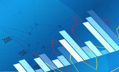 Bar chart with an overlaid line chart