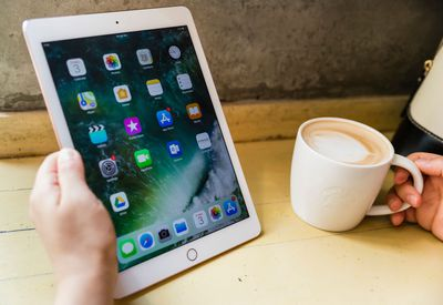 Ipad and a cup of coffee
