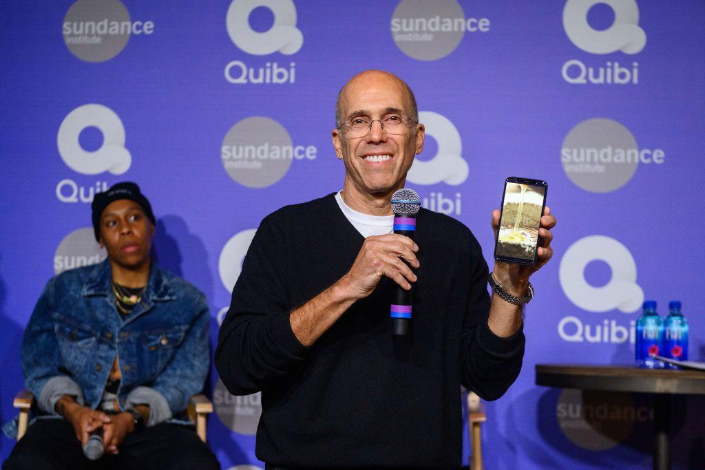 Jeffrey Katzenberg showing off Quibi in January 2020