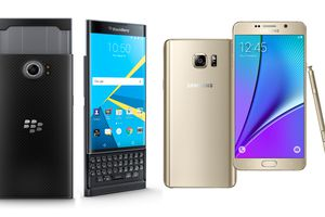 BlackBerry Priv y Samsung Galaxy Note 5