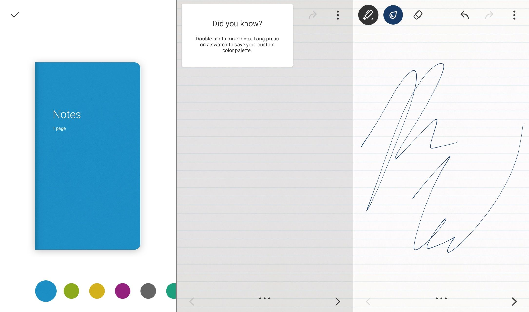 The Bamboo Paper app for Android
