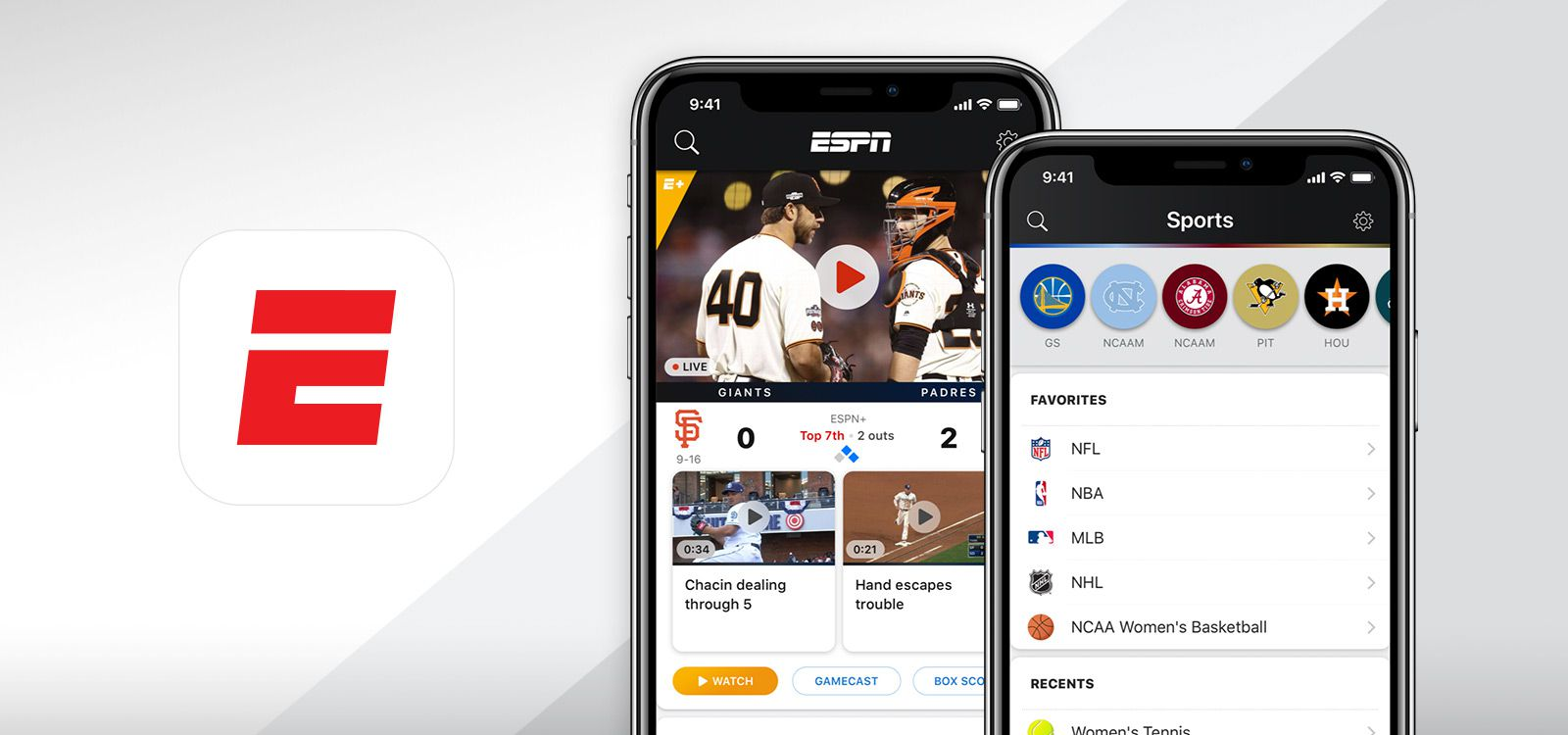 The ESPN app offers access to the sports giant's huge library of content