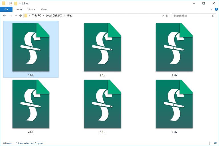 FDX files in a folder