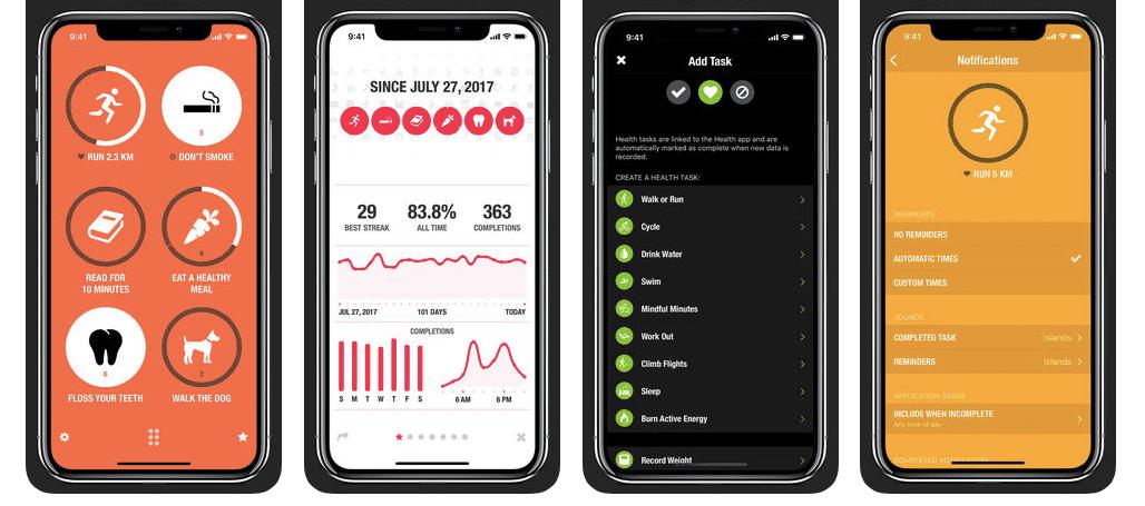 Screenshot of Streaks on App Store for iPhone