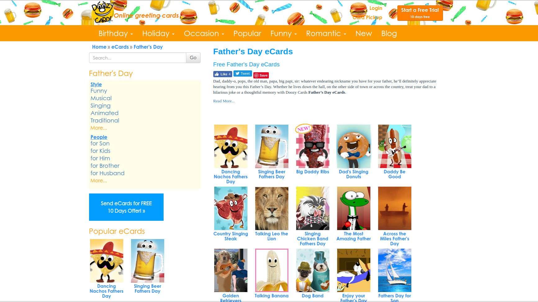 Doozy Cards Web Page