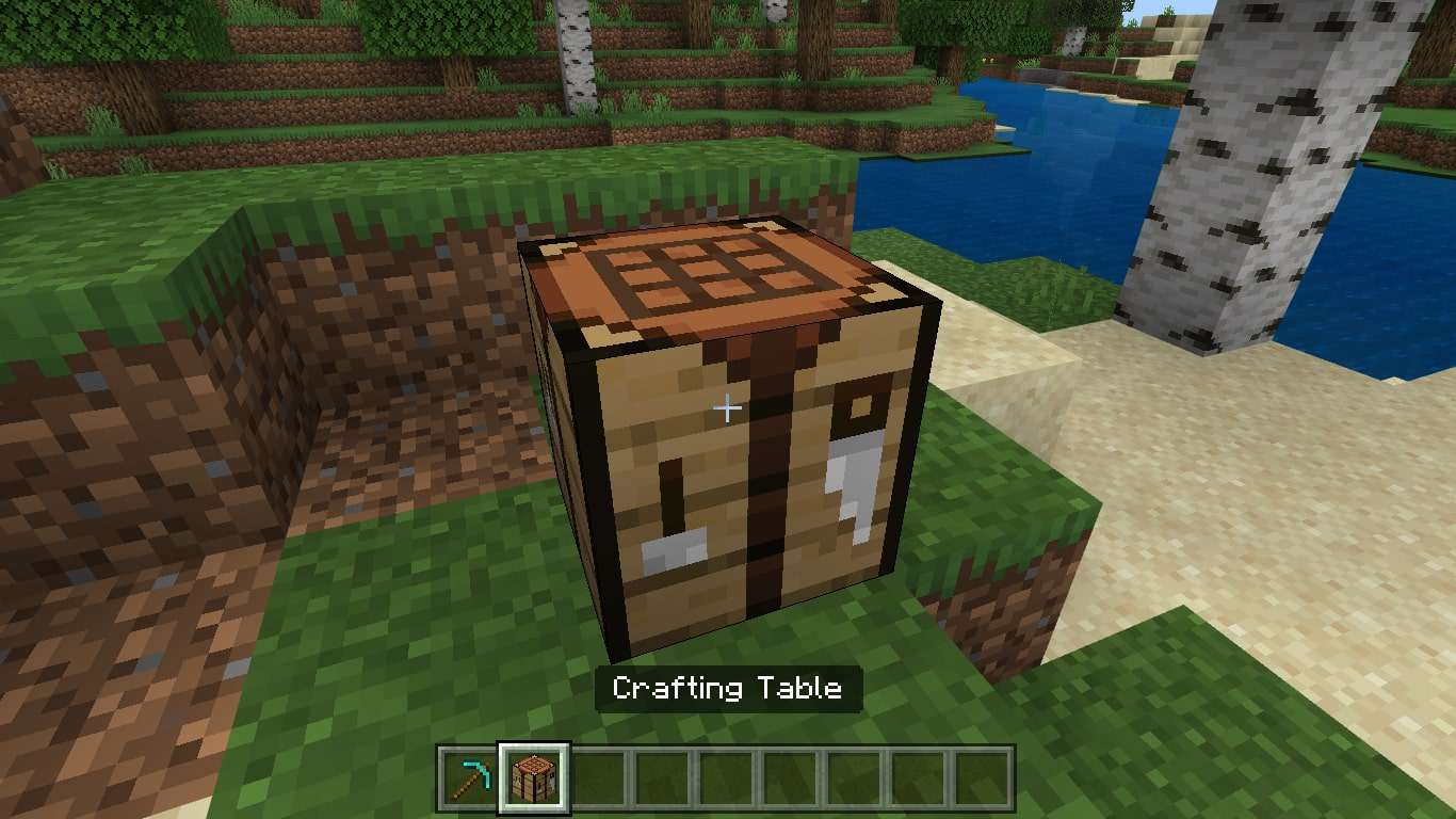A Crafting Table in Minecraft