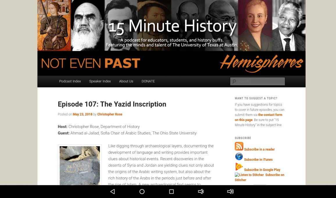 15 Minute History podcast