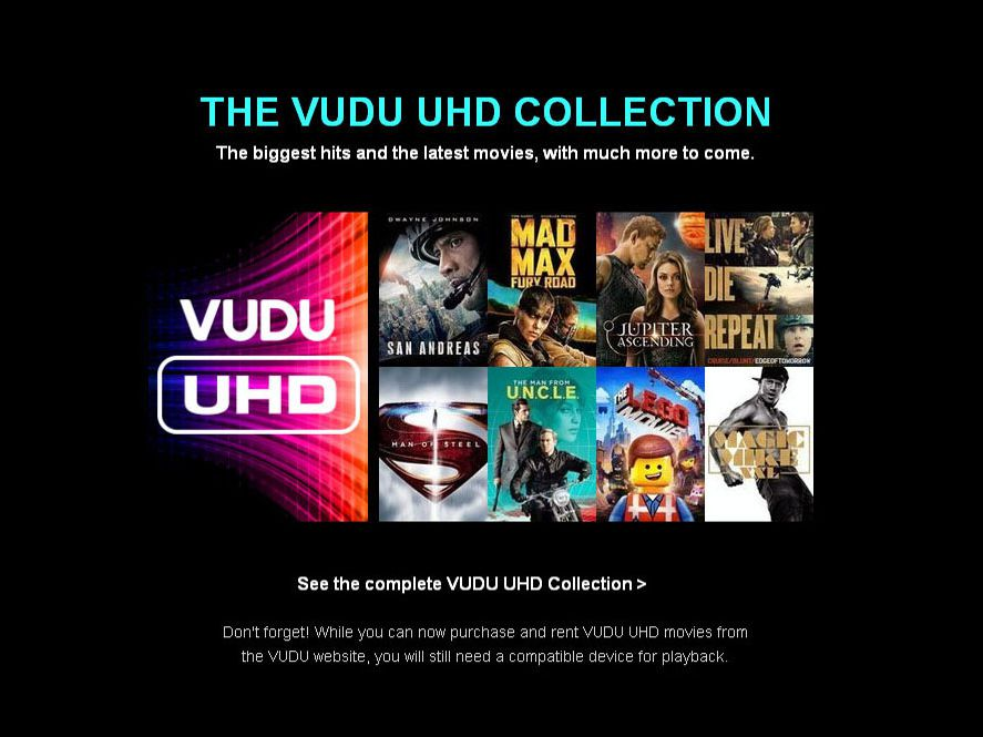 Streaming VUDU In 4K - What You Need To Know