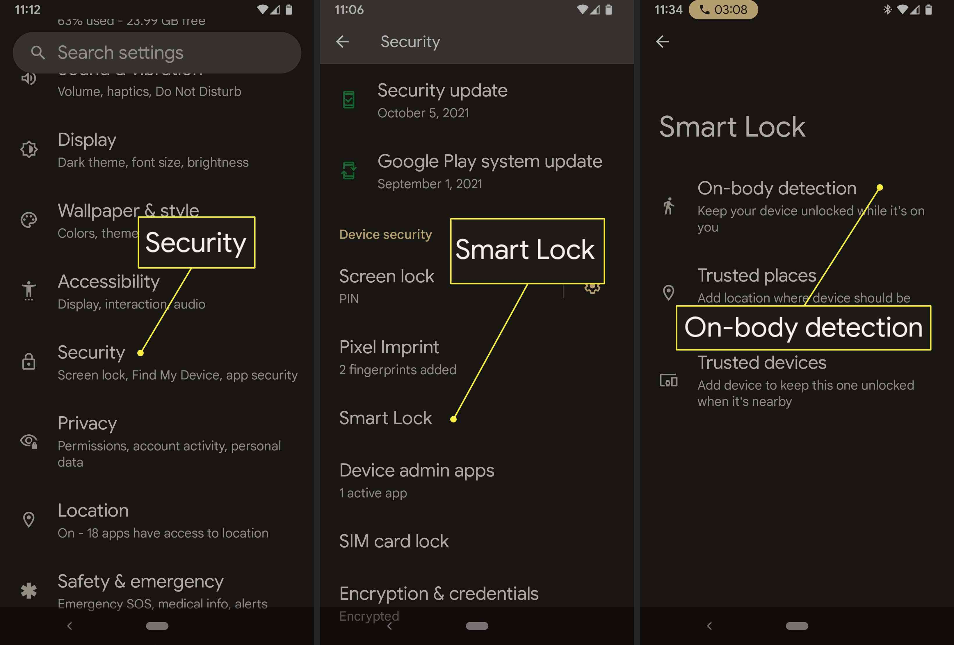 An Android user enables Smart Lock