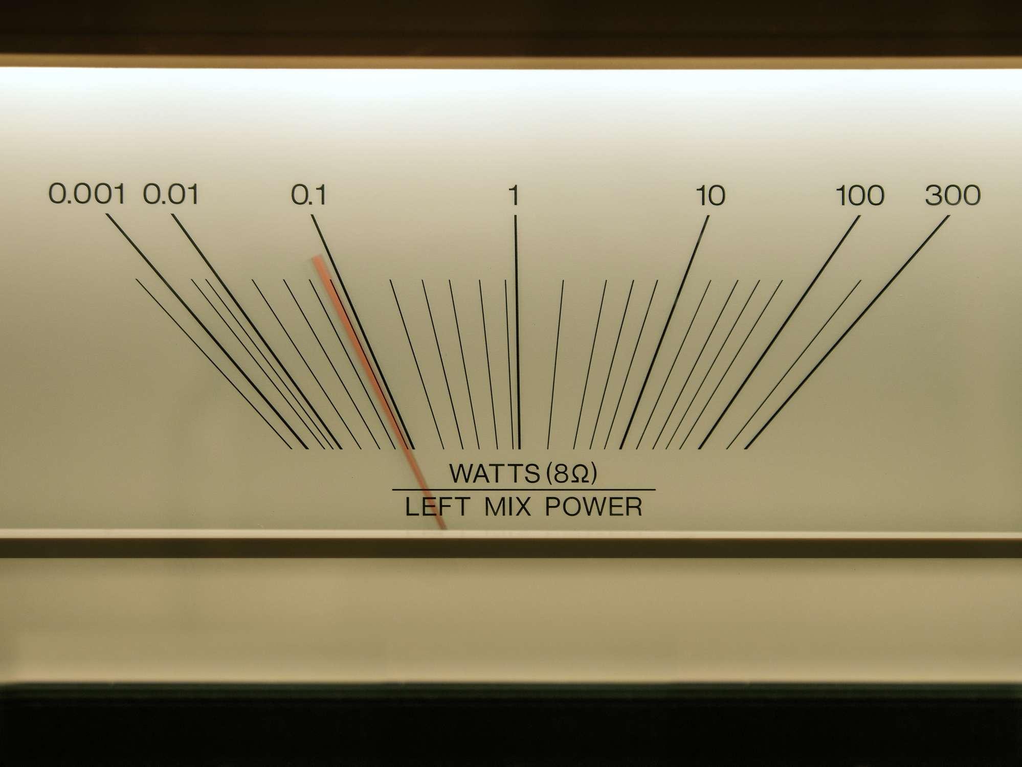 A decibel meter.