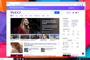 Yahoo! homepage with Mail on Windows Desktop