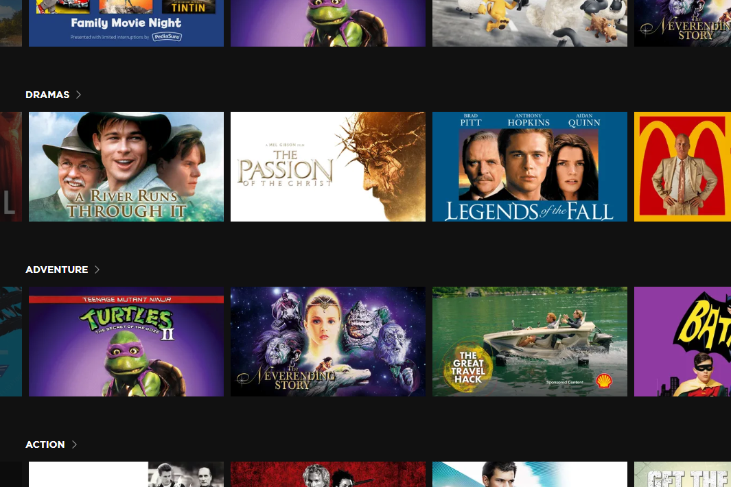 Free drama movies on The Roku Channel