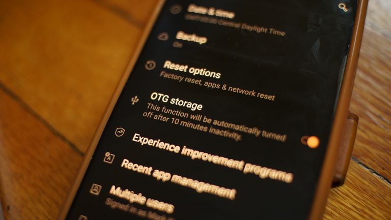 USB OTG storage settings in Android