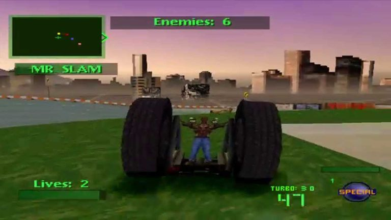Screen capture of Twisted Metal on PS1