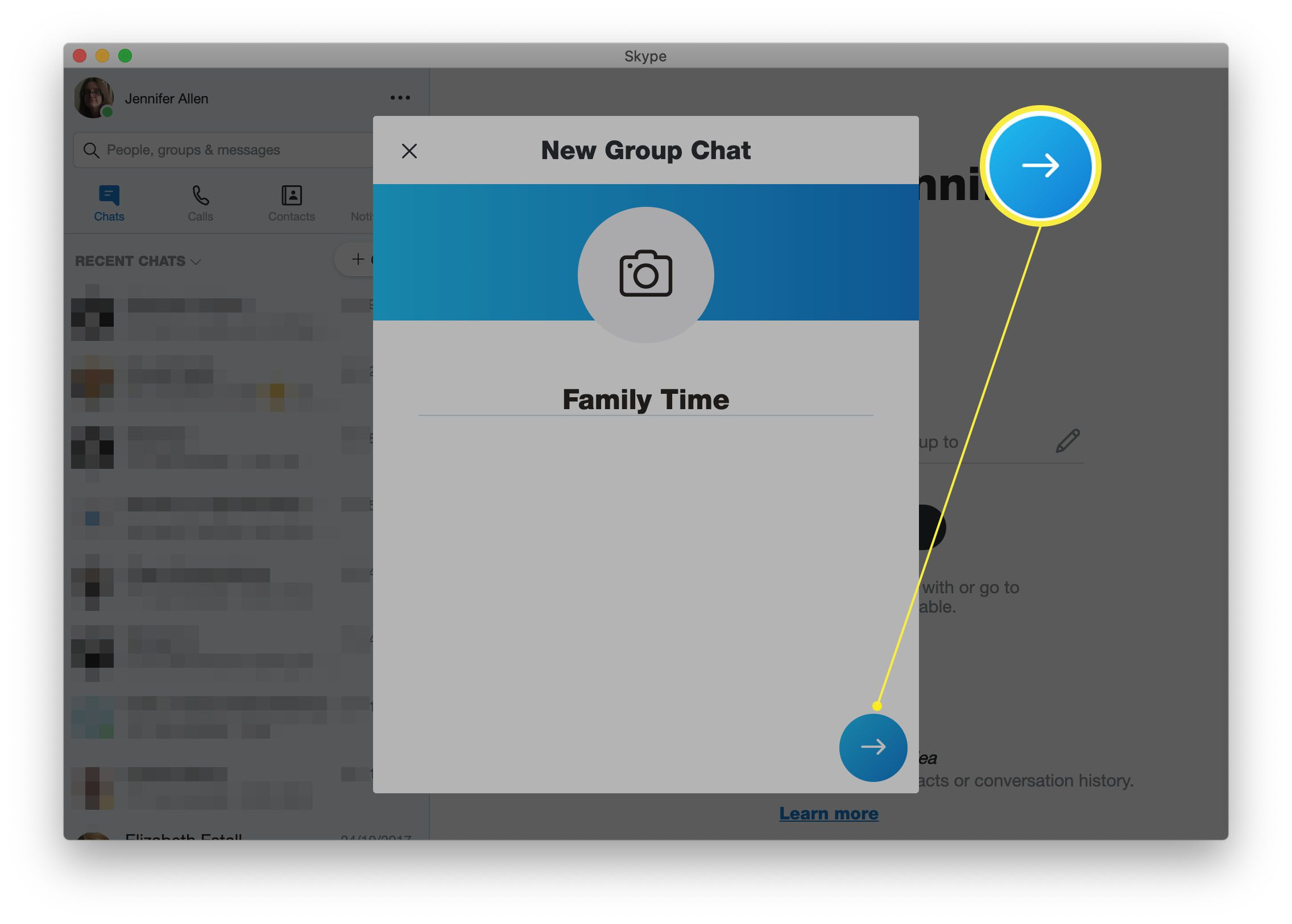Skype with new group chat options