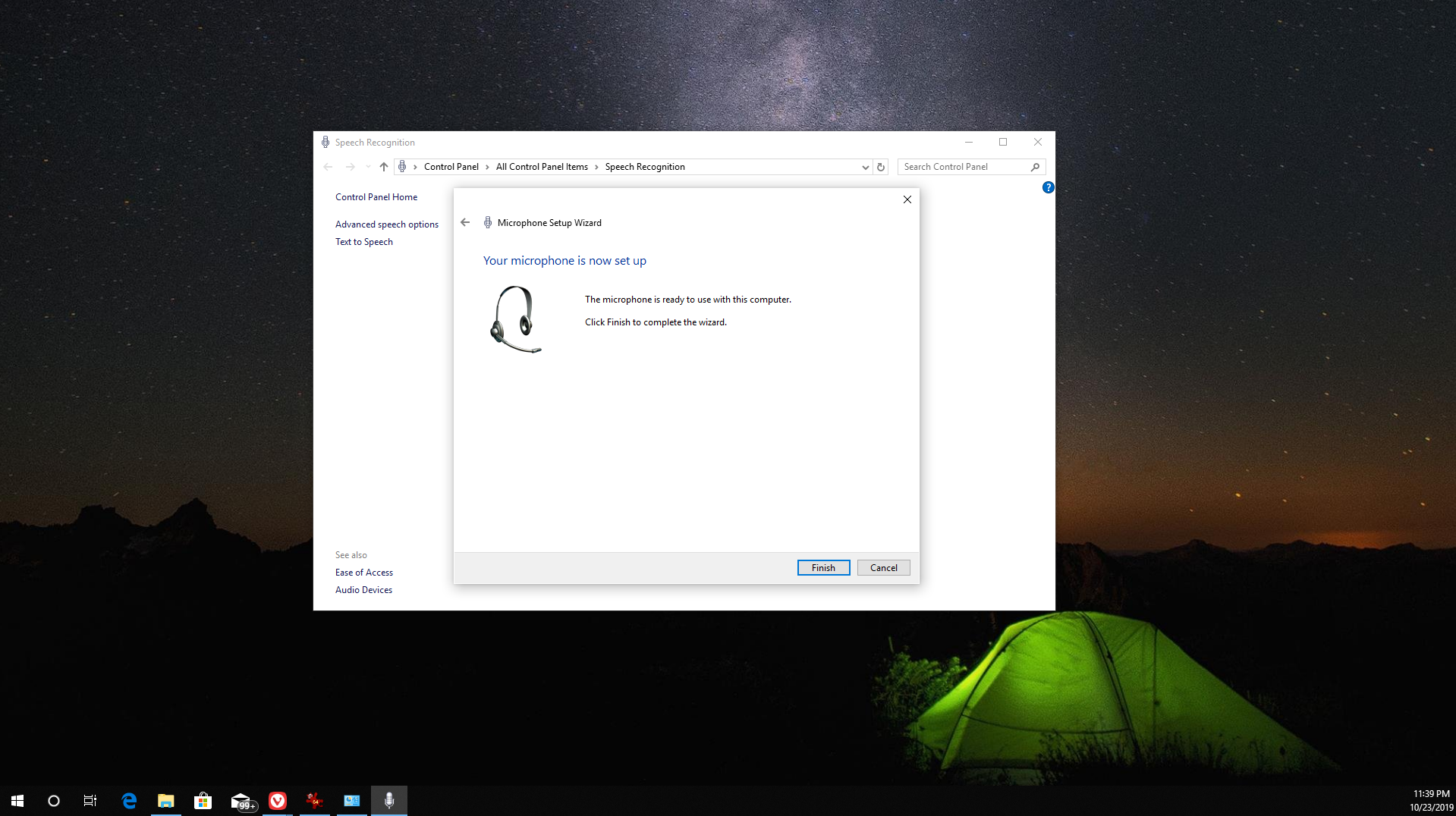 how to set up and test a microphone in windows 10