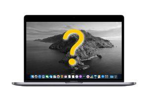 macOS Catalina running on a MacBook Pro