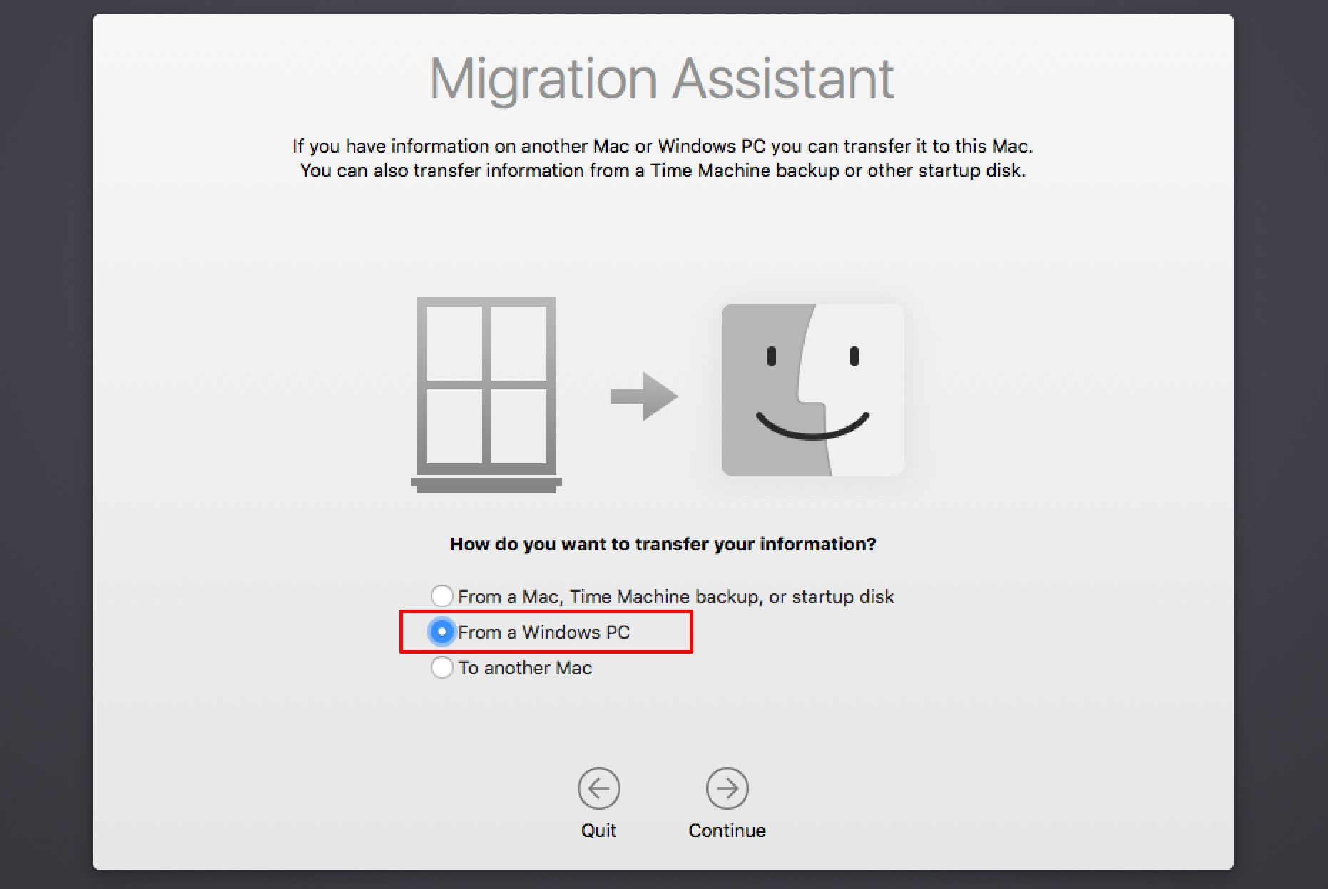 Mac Migration Assistant Can Move Windows PC Data