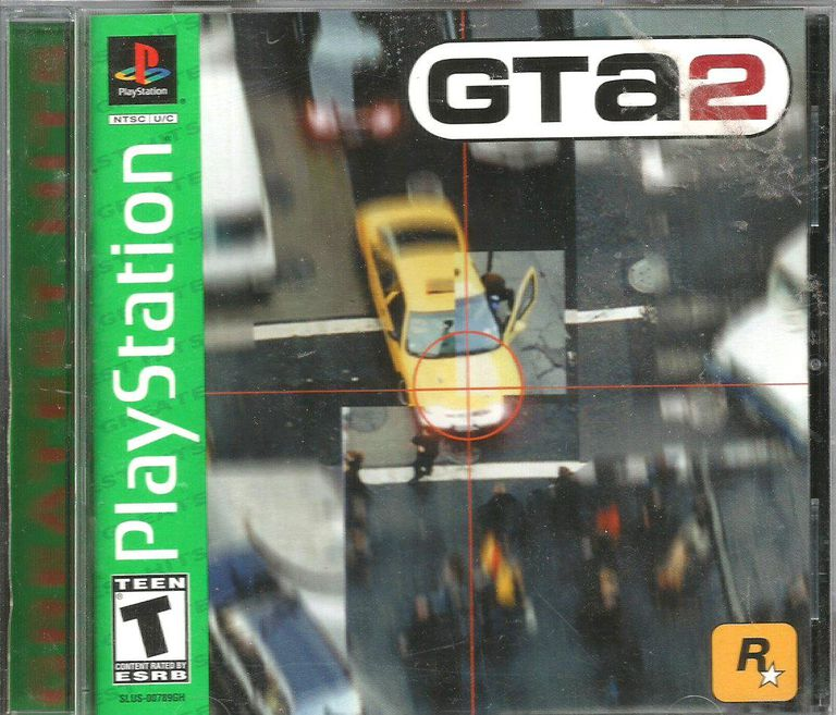 Game disc and cover of Grand Theft Auto 2 for Playstation