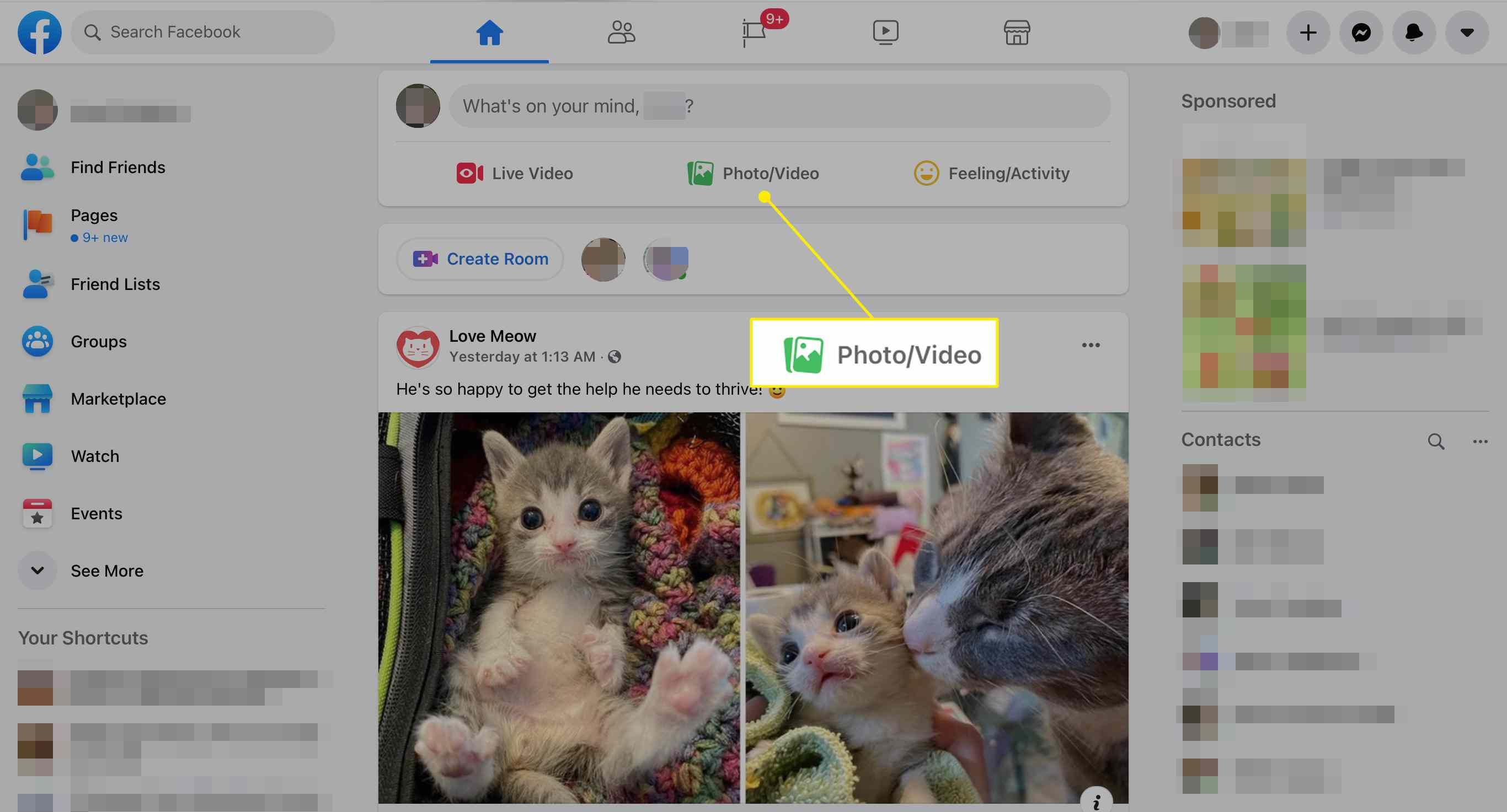 Photo/Video button on Facebook via Safari on iPad