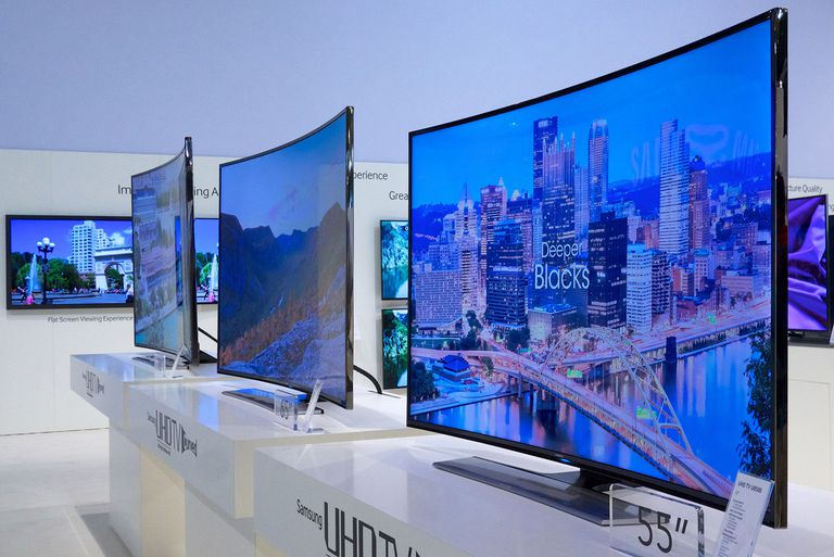 Three Samsung Curved UHDTVs