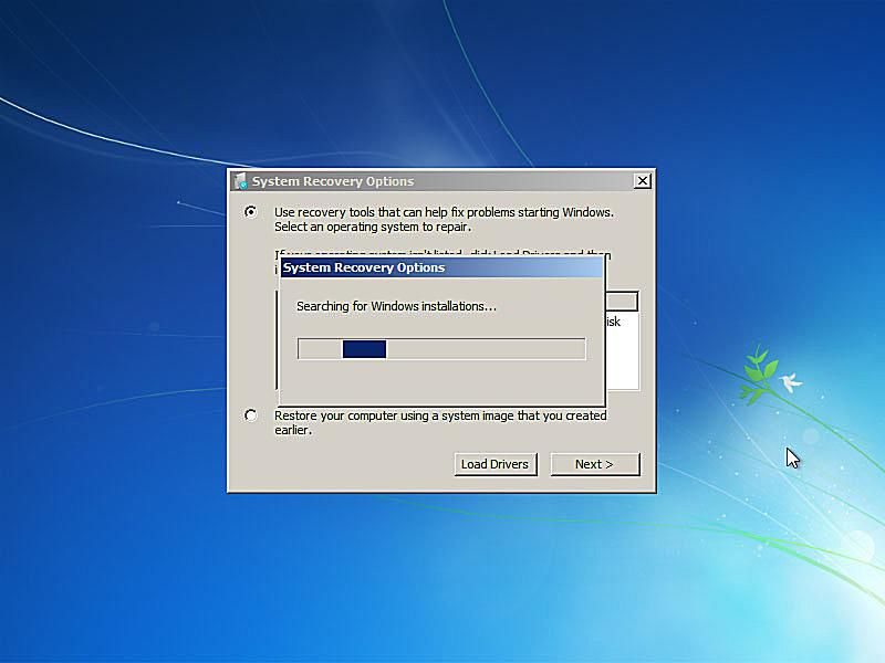 windows 7 image restore without cd