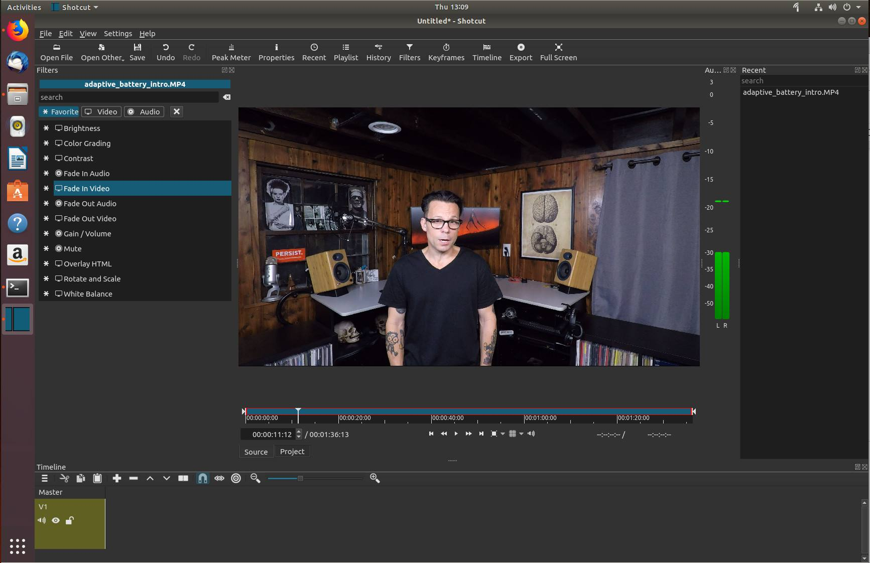 Editing a video in the Shotcut Video Editor