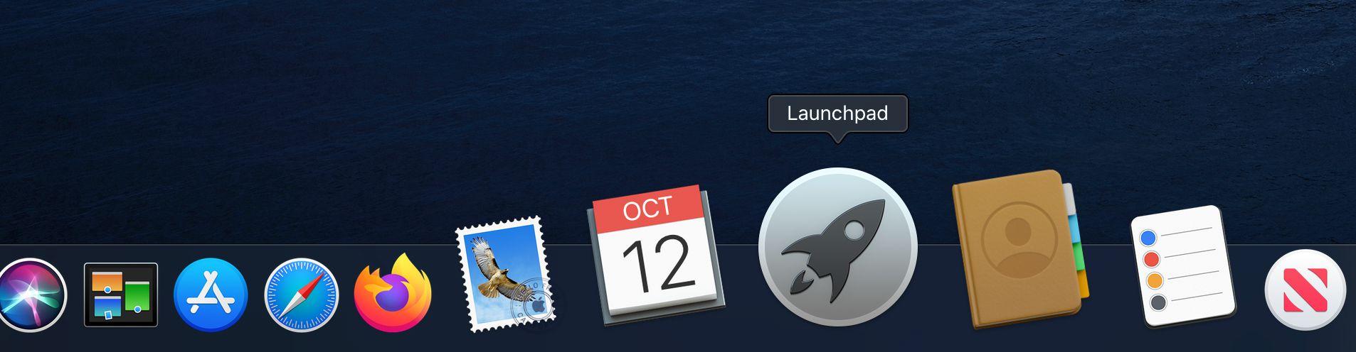 Launchpad icon on Macbook dock