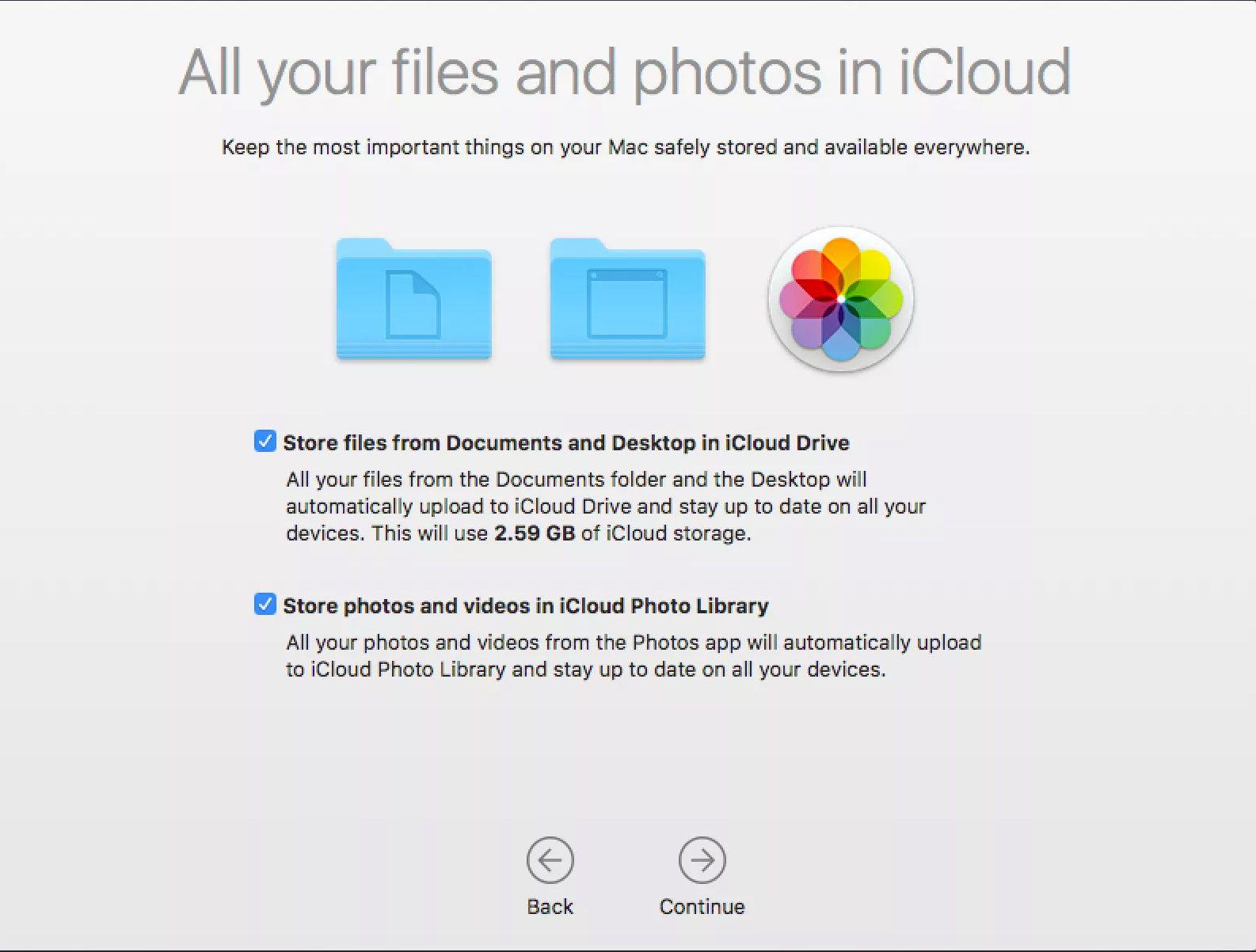 macOS Sierra upgrade installation setup assistant