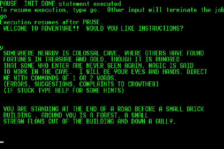 Screenshot of Adventure game