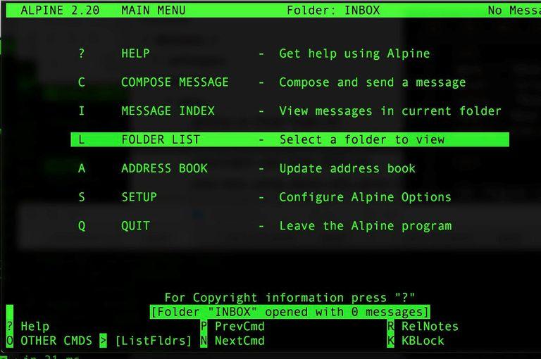 Alpine screenshot