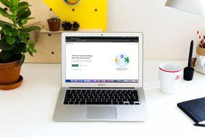 Google Meet on MacBook Air