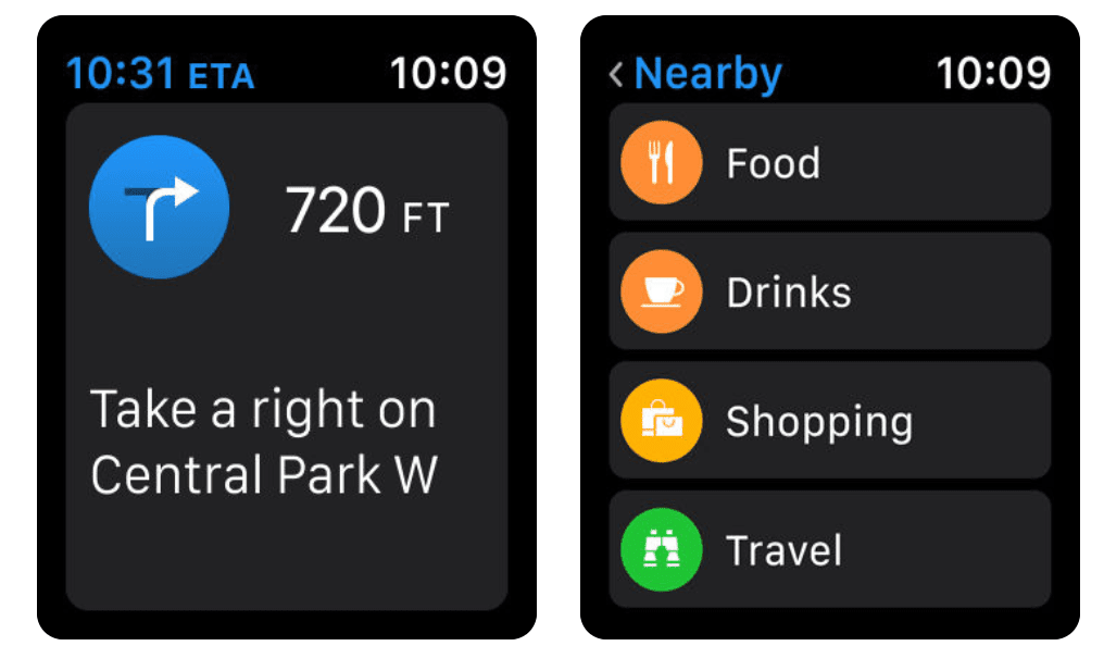 Apple Maps is the go-to GPS app for your Apple Watch.