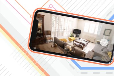 View of a living room on phone