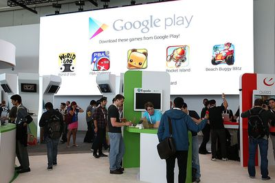 The Google Play exposition at the Google I/O Developers conference