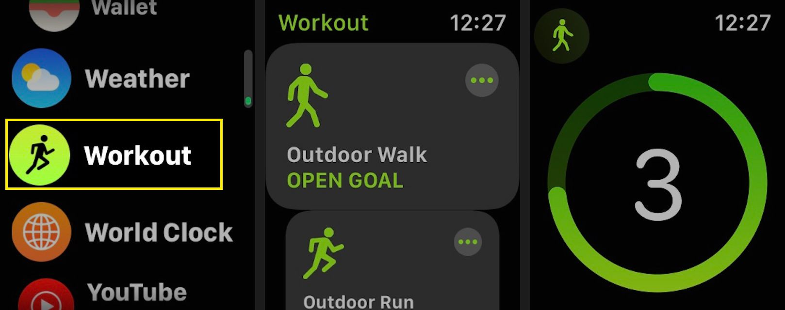 Launch a workout on your Apple Watch